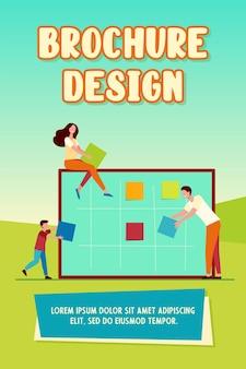 Zakelijke team planning taken brochure sjabloon