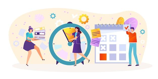 Zakelijke team werkplek, beheer van de tijd van het bedrijf