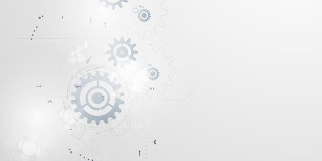 Zakelijke technologie zakelijke en technische achtergrond