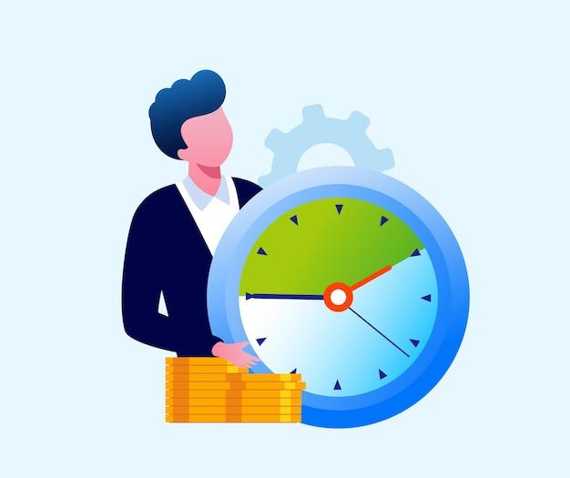 Zakelijke tijdbeheer deadline schema platte vector illustratie banner en bestemmingspagina