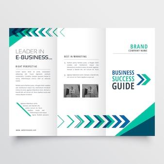 Zakelijke tri vouw brochure sjabloonontwerp