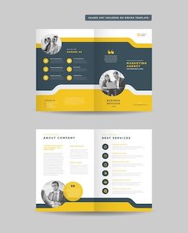 Zakelijke tweevoudige brochure of bedrijfsprofiel