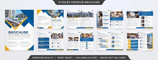 Zakelijke tweevoudige brochure schone stijl