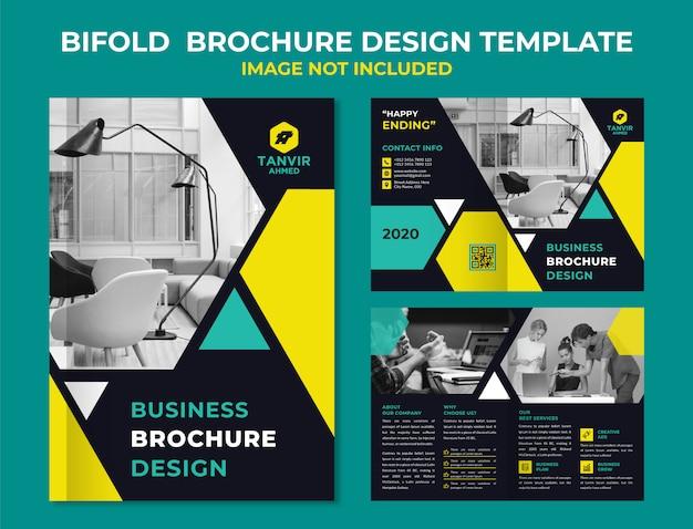 Zakelijke tweevoudige brochure sjabloon