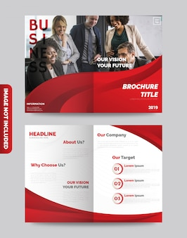 Zakelijke tweevoudige brochure
