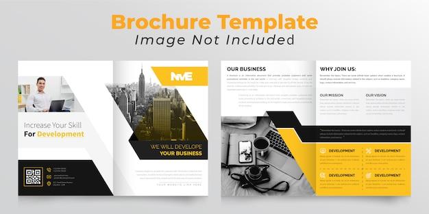 Zakelijke tweevoudige zakelijke brochure