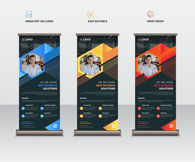 Zakelijke updatepakket x-banner sjabloon set