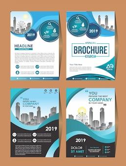 Zakelijke vector instellen brochure sjabloon cover ontwerp