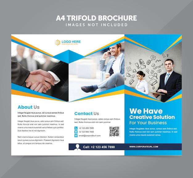 Zakelijke veelzijdige a4 driebladige brochure vector sjabloon