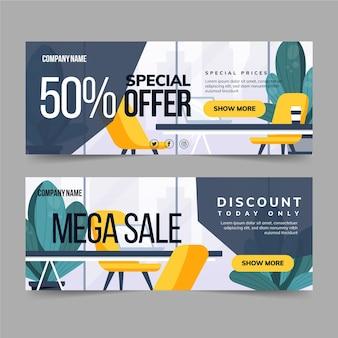 Zakelijke verkoop banners ontwerpen
