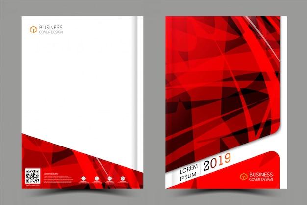 Zakelijke verzameling van cover boek set. tijdschriftinspiratie van abstract.