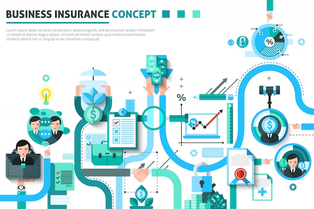Zakelijke verzekering concept illustratie