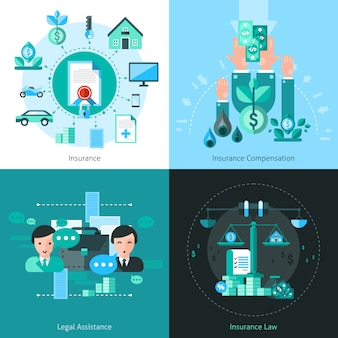 Zakelijke verzekering concept vector afbeelding