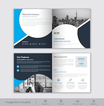 Zakelijke vierkante bi-voudige brochure sjabloon