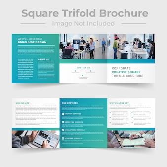 Zakelijke vierkante driebladige brochure