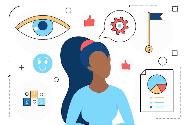 Zakelijke visie succesvol leiderschap en workflow van ondernemersleider mensen