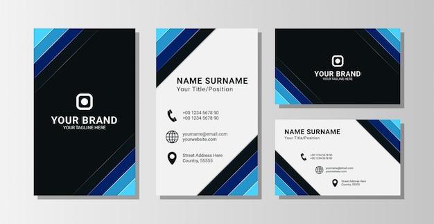 Zakelijke visitekaartje sjabloon premium vector