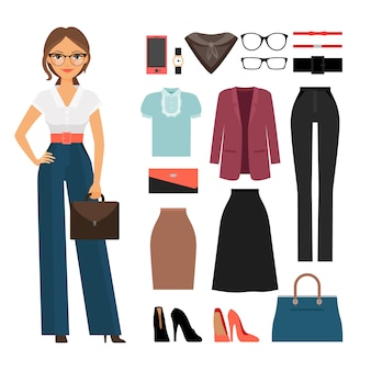 Zakelijke vrouw kleding