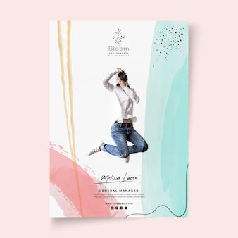 Zakelijke vrouw poster sjabloon