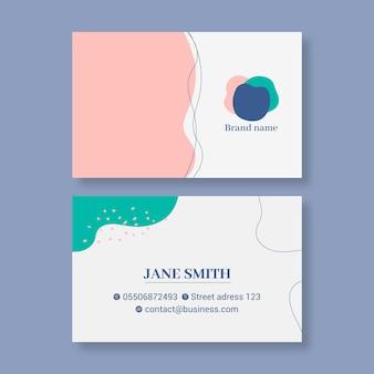 Zakelijke vrouw visitekaartje