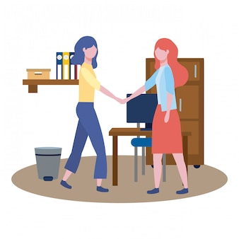 Zakelijke vrouwen avatar van cartoon