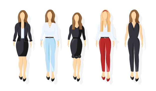Zakelijke vrouwen collectie