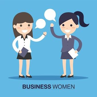 Zakelijke vrouwen spreken