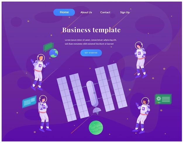 Zakelijke web-bestemmingspagina astronaut