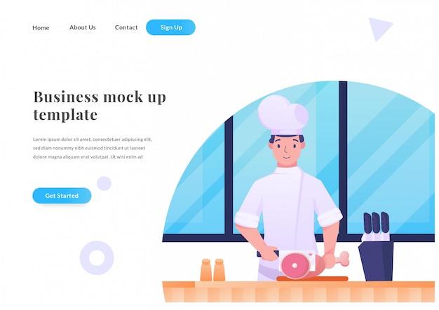 Zakelijke web-bestemmingspagina chef