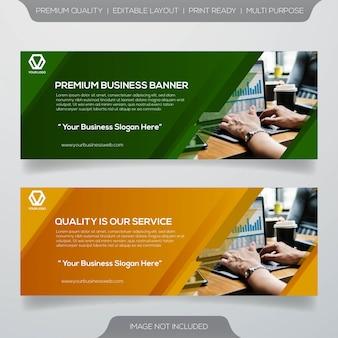 Zakelijke webbanner