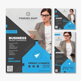 Zakelijke webinar concept sjabloon