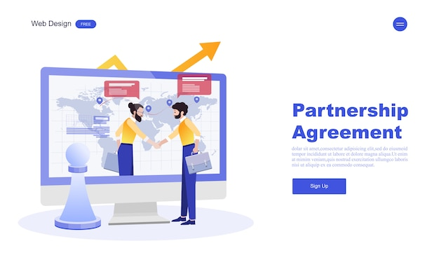 Zakelijke websjabloon voor marketing, analyse en teamwerk