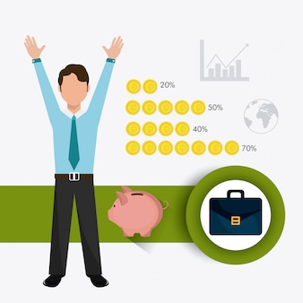 Zaken, geld en menselijke hulpbronnen