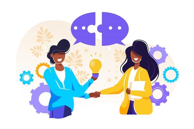 Zakenlieden bespreken sociale netwerken