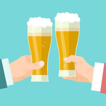Zakenlieden bier toast illustratie.