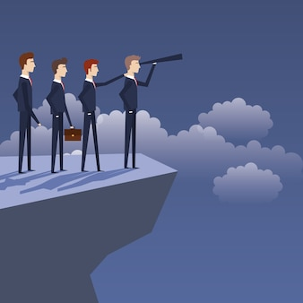 Zakenlieden teamgroup avatars karakters