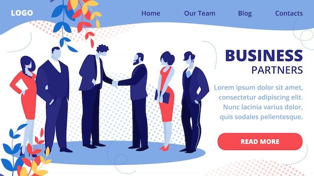 Zakenlieden teamleiders ontmoeten elkaar voor succesvolle deal
