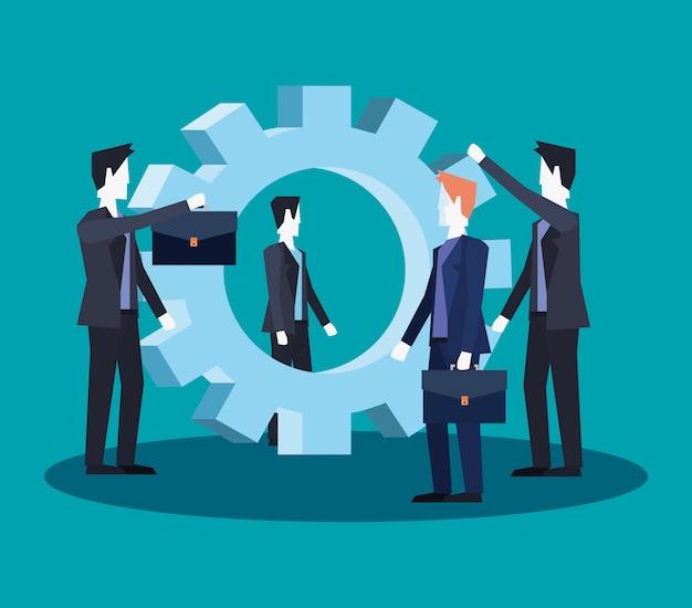 Zakenlieden teamwork groep samen bedrijf