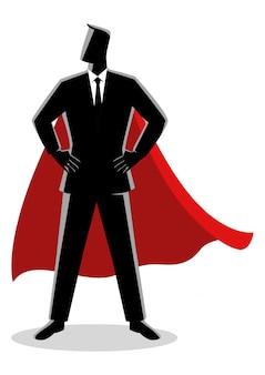 Zakenman als een superheld