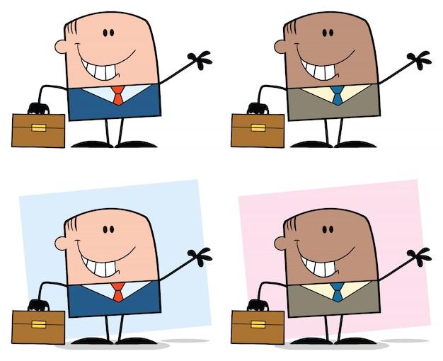 Zakenman cartoon character set
