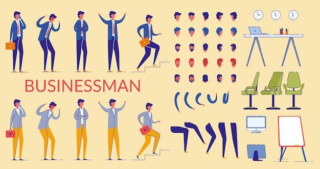 Zakenman character constructor, kantoormedewerker.