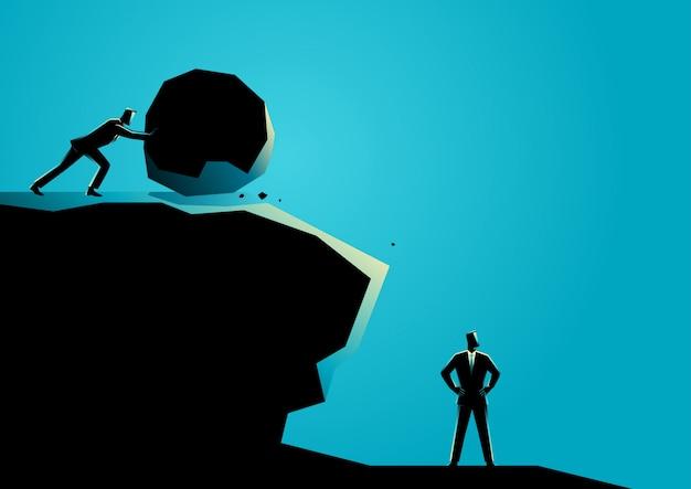 Zakenman die andere zakenman probeert te elimineren