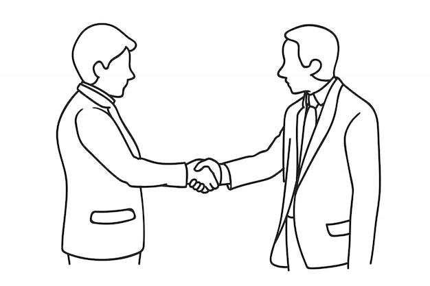 Zakenman die een deal maakt