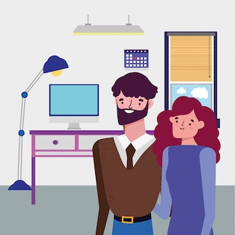 Zakenman en zakenvrouw avatar