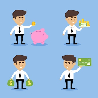 Zakenman financiële concepten