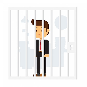 Zakenman in de gevangenis