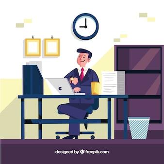 Zakenman in het bureau