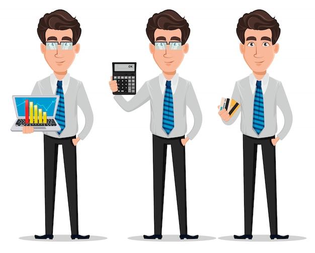Zakenman in office-stijl kleding