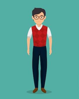 Zakenman karakter avatar geïsoleerd