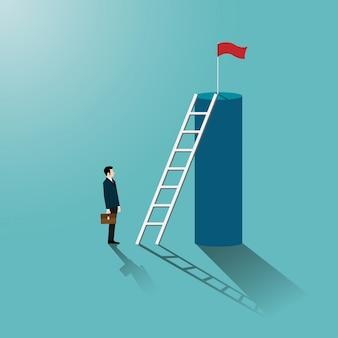 Zakenman kijk trap